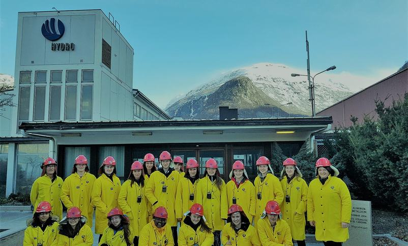 Studietur til Hydro Årdal   Foto:ann-Cristin Sanden
