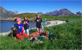 Neste generasjon strandryddere. Foto: Bo Eide.