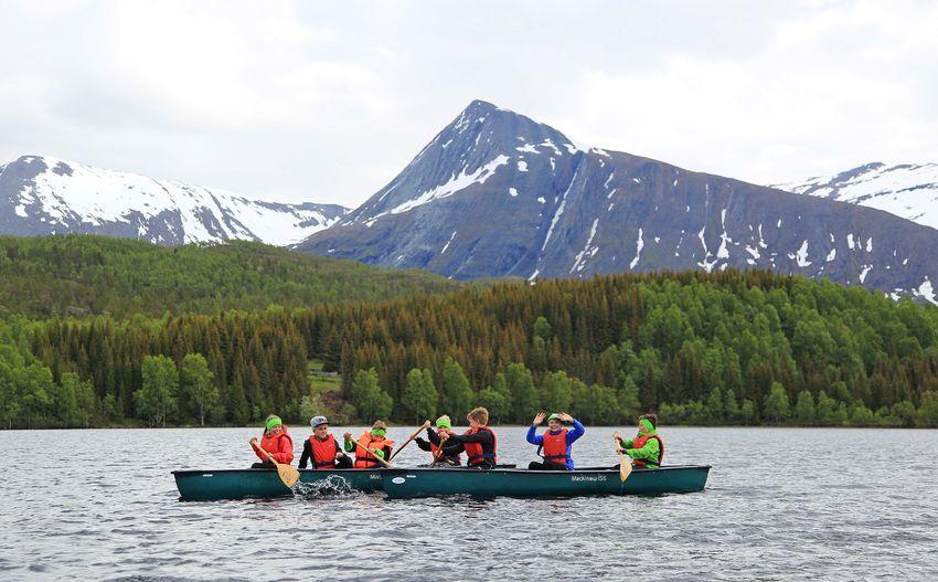 Kanopadling under friluftsskolen i 2017. Foto: Tine Marie Valbjørn Hagelin.