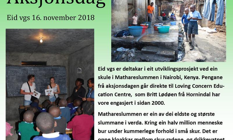 Elevane på Eid vgs har aksjonsdag 16.november