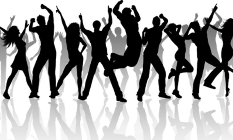 svart kvitt illustrasjon dans