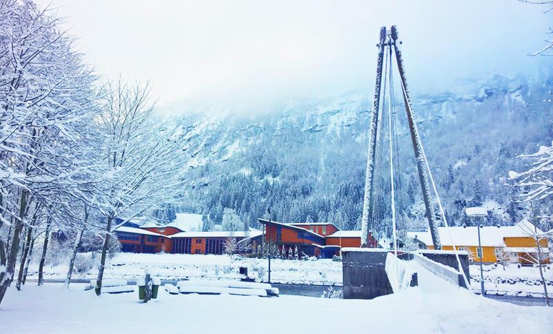 Hafstad vgs, vinter, foto Mona Fossdal