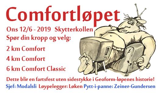 Comfortløpet 2019. Arrangørgrafikk.