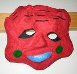 Masker laget av kulturskole elever på maskekurs