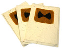 3 kort av resirkulert papir