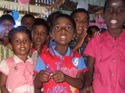 Barn i leirbarnehagen