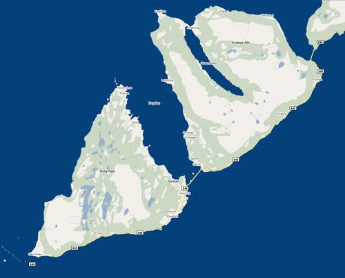 Kart over Ibestad