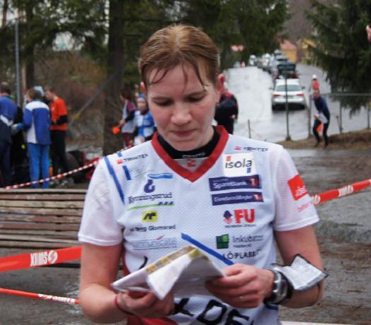 Galina Vinogradova vant løp to i Oslo City Cup 2011 med stor margin.