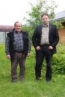 Ordfører Frank Martin Ingilæ og varaordfører Hartvik Andreas Hansen