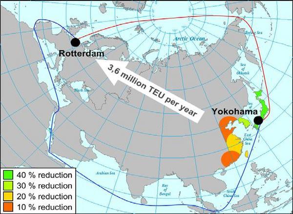 nordøstpassasjen kart Vurdering av skipstrafikk i Arktis   FRAM   Nordområdesenter for  nordøstpassasjen kart