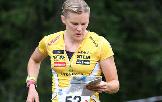 Helena Jansson på VM-stafetten i Trondheim 2010. Foto: Geir Nilsen/OPN.no.