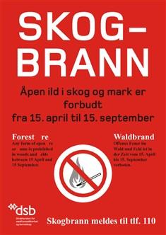 Skogbrannplakat, Fotograf: Plakat