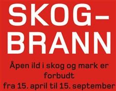 Skogbrann, Fotograf: plakat