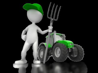 Figur med traktor