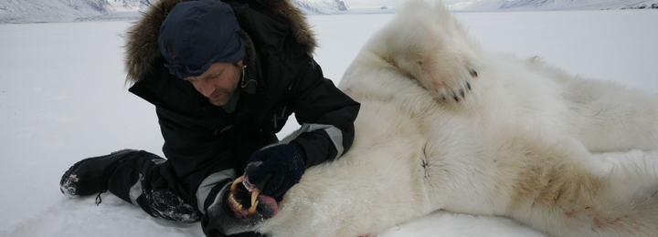 Jon Aars sjekker tenner, alder, hos bamse