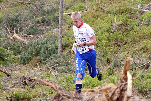 Olav Lundanes fosser her frem under et VM-uttaksløp like utenfor Hønefoss 2012. Foto: Geir Nilsen/OPN.no.