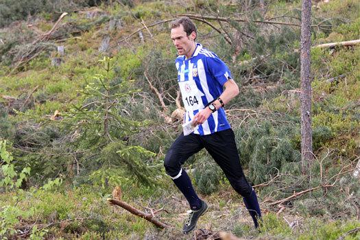 Audun Hultgreen Weltzien i IFK Göteborgs blåhvite drakt under VM-testløpet i Hønefoss og Ringerike 2012. Foto: Geir Nilsen/OPN.no.