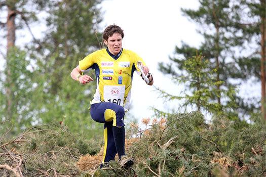 Ulf Forseth Indgaard underveis i VM-uttaksløpet over langdistanse  i Hønefoss og Ringerike 2012. Foto: Geir Nilsen/OPN.no.