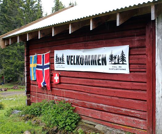 """""""Velkommen til gards"""". I dette tilfelle idyllisk Verpsetra i Finnrmarka. Foto: Hans L. Werp."""