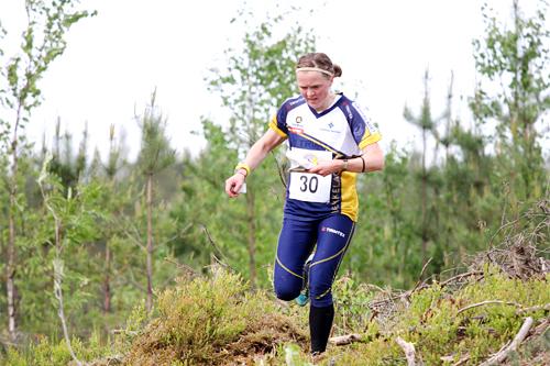 Tone Wigemyr i et VM-uttaksløp like utenfor Hønefoss i Ringerike i mai 2012. Foto: Geir Nilsen/OPN.no.
