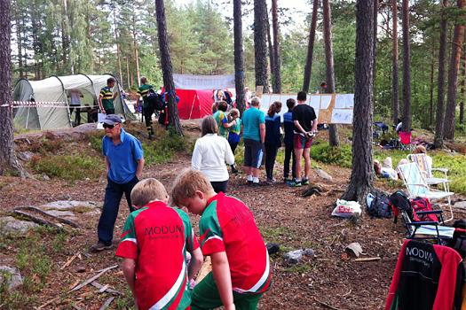 Samlingsplassen til et av grasrotas orienteringsløp. Foto: Geir Nilsen/OPN.no.