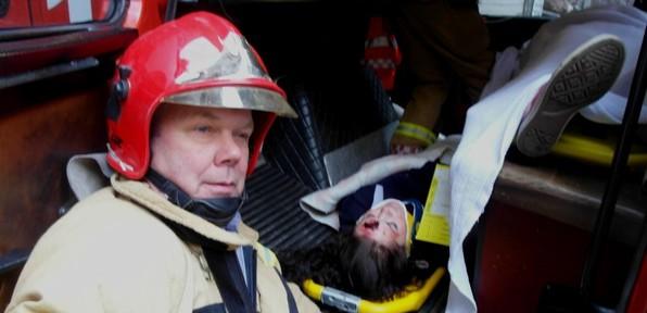 Bilete frå ei øving i Jarnfjelltunnellen hausten 2012. Foto : Sigvald Kvinge
