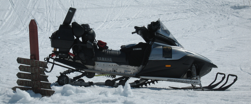 Bilete av snøskuterløype