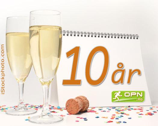 1. november 2004 så nettavisen OPN.no dagens lys - I dag er dette 10 år siden. Grafikk: OPN.no/iStockphoto.