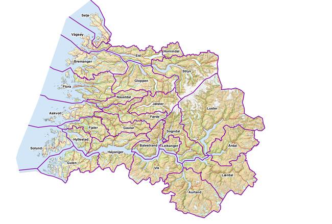 kart sogn og fjordane kommuner FYLKESSPEGEL – KOMMUNESIDER   Sogn og Fjordane fylkeskommune  kart sogn og fjordane kommuner