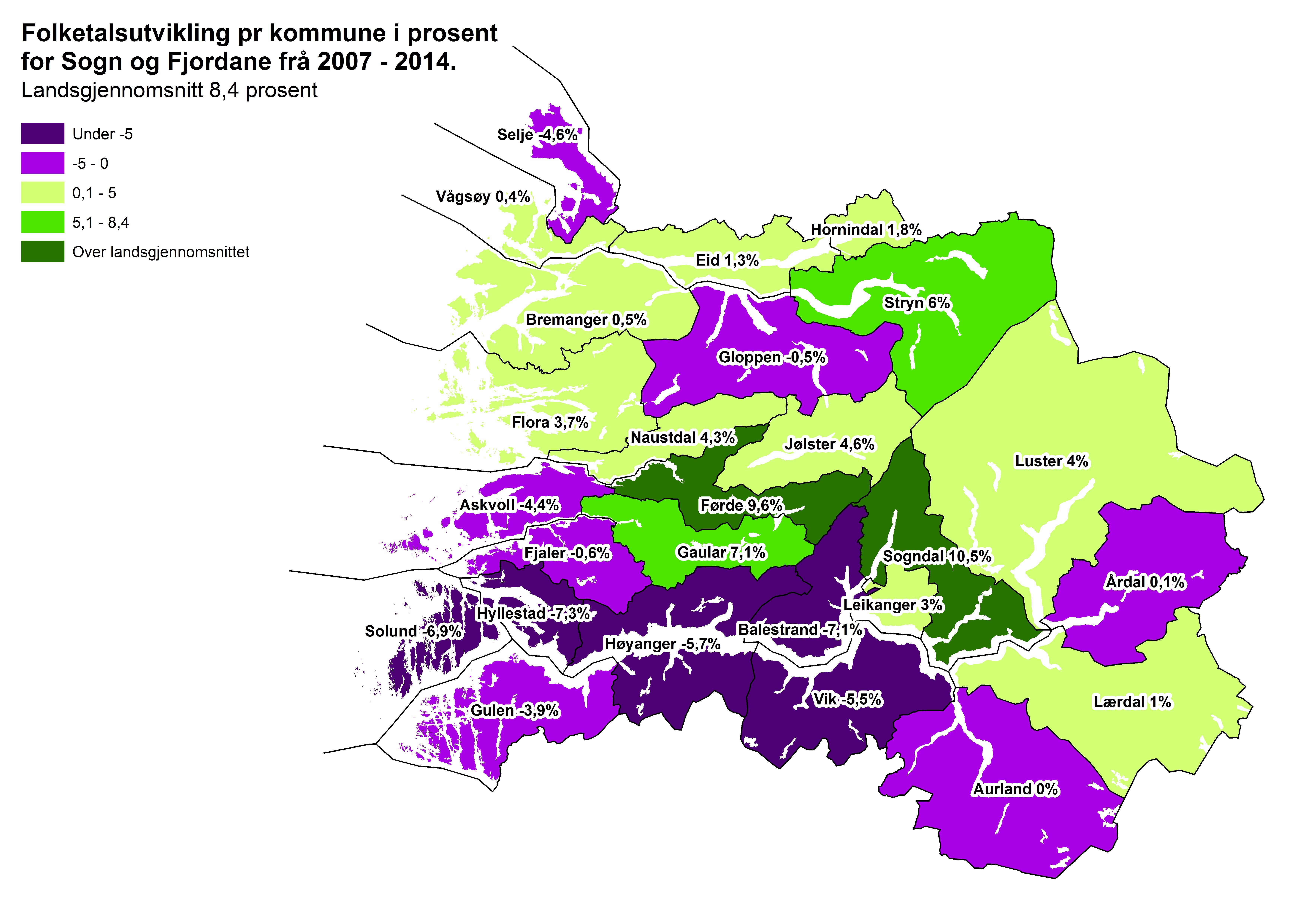 fjaler kart Folketalsutvikling   Sogn og Fjordane fylkeskommune fjaler kart