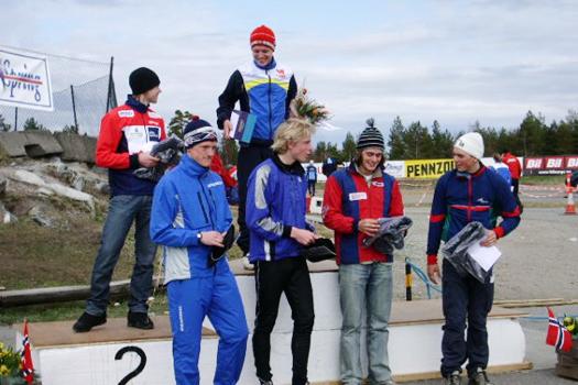 Norwegian Spring sitt Solrenningen 2005. Seierspallen i H19-20 Elite. Foto: Geir Nilsen/OPN.no.