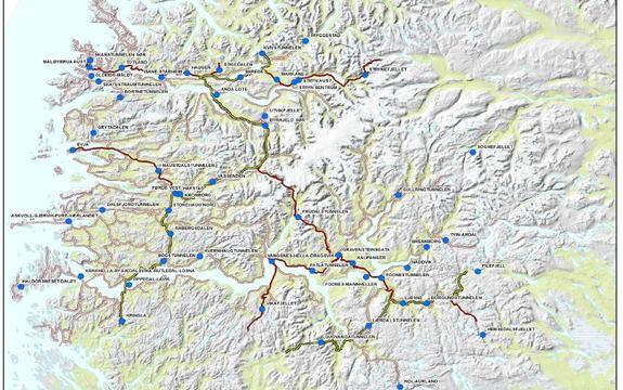 Kart trafikkregistreringspunkt