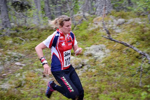 Helena Jansson underveis i Sälen 3+3. Foto: Jimmy Birklin.