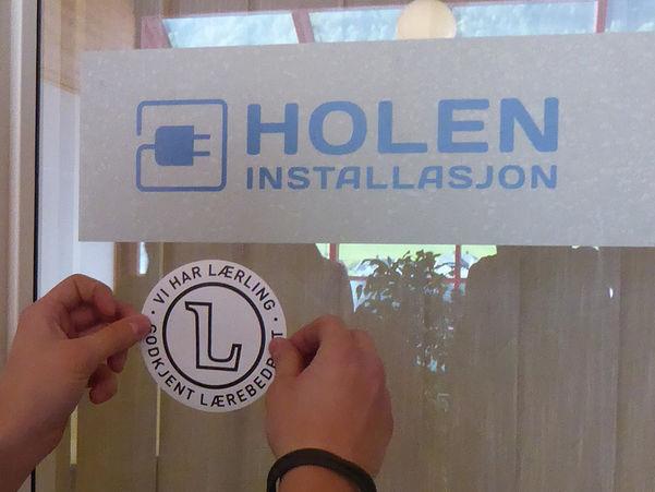 Lærlingmerket på Holen Installasjon