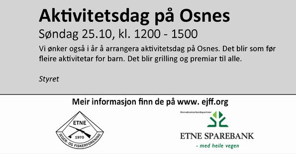 Annonse Aktivitetsdag Osnes 251015