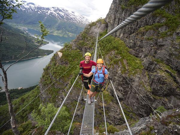 Via ferrata foto Sindre Thoresen Lønnes