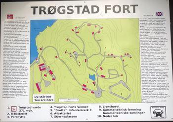 Kart over Trøgstad Fort