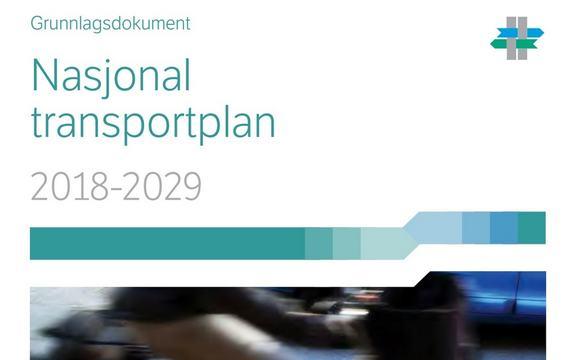 Skjermbilde av framsida på Nasjonal transportplan grunnlagsdokument 2018-2029