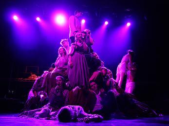 Drama, bildet frå musikalen Spring Awakening 2016