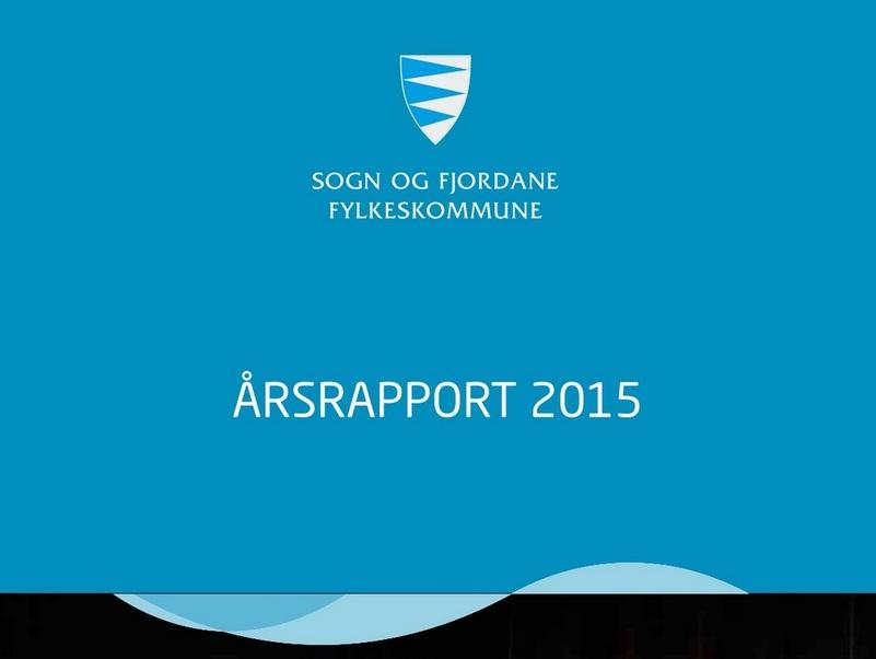 Framside på årsrapport 2015