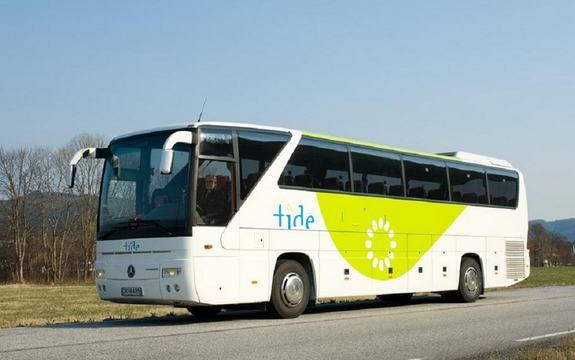 Tide-buss på vegen