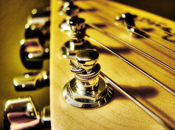 Nærbilde av gitar