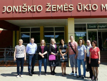 Tilsette frå Mo og Øyrane på Erasmus samling i Litauen.
