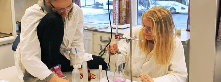 To elevar som gjer kjemiforsøk