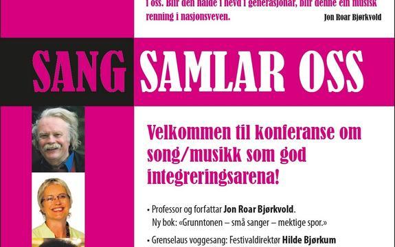 Invitasjon konferanse Sang samlar oss