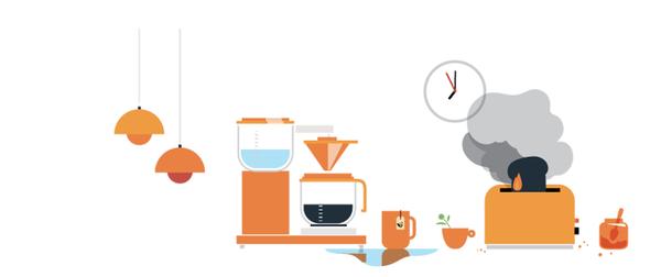 Illustrasjon sikker hverdag kaffetrakter