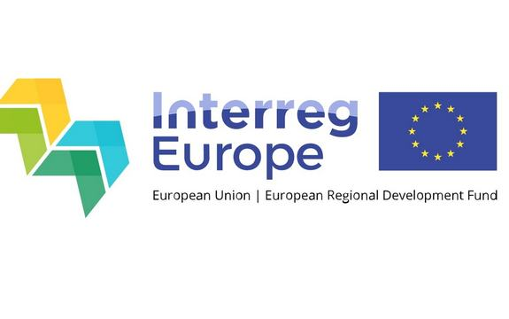 Interreg Europe logo med EU-flagg