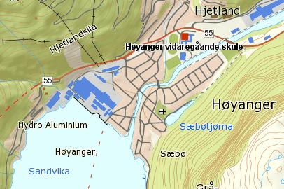 Kart Høyanger vgs.png