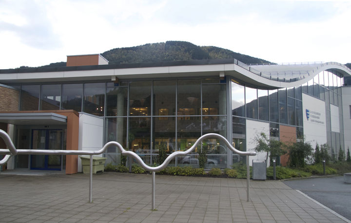 Inngangsparti til Sogndal vgs