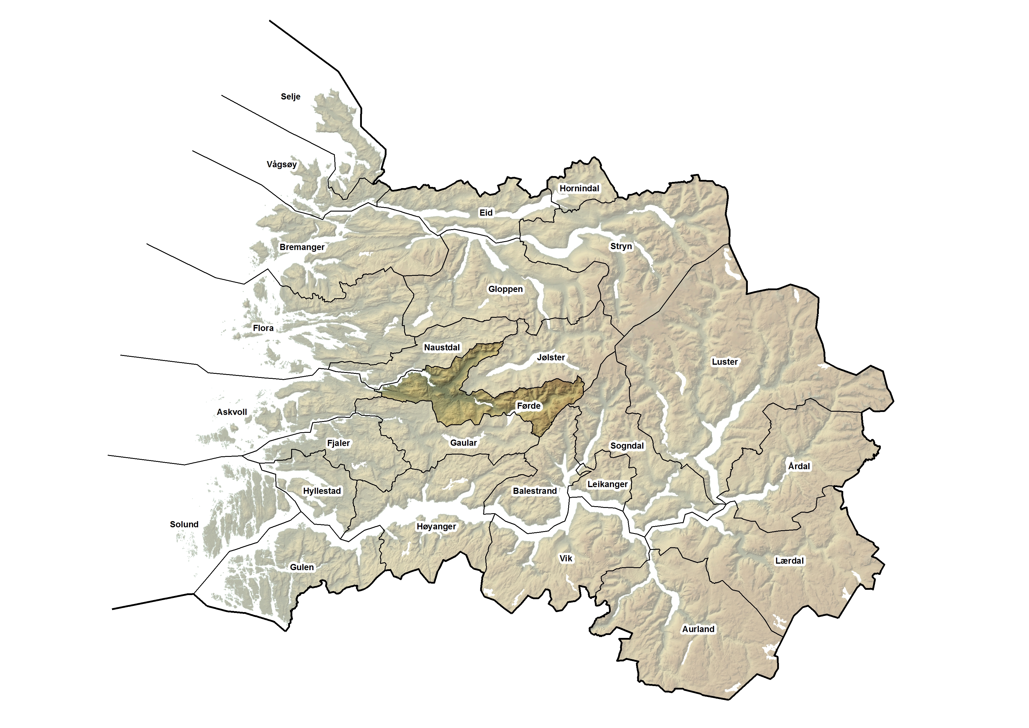 kart førde kommune Sogn og Fjordane Fylkeskommune   Statistikkportal